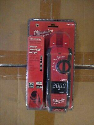 Milwaukee 2205-20 True Rms Fork Meter New In Packaging