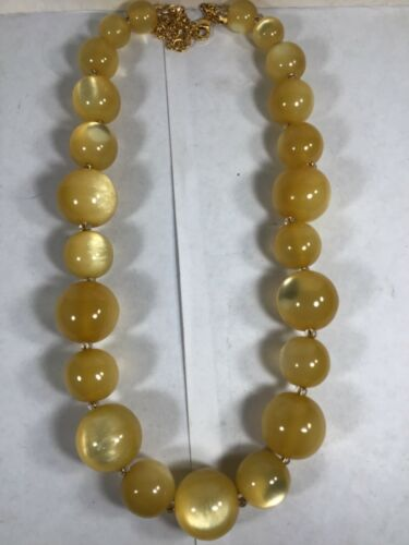 Vintage Joan Rivers 24 in. Yellow Beaded Necklace