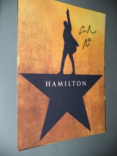 LIN MANUEL MIRANDA signed BROADWAY PLAY HAMILTON SHEET MUSIC 8x10 photo   G