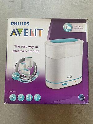 Philips AVENT SCF284/05 3-in-1 Electric Baby Bottle Steam Sterilizer