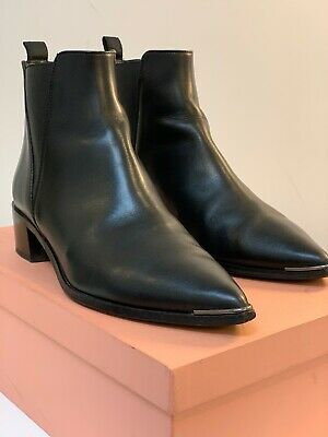 ACNE STUDIOS Jensen Ankle Boots Black EU 40 $300  EXCELLENT PRE-OWNED CONDITION