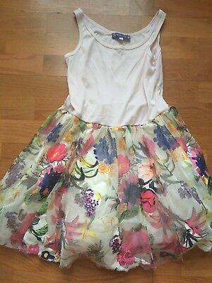 Sara Girls Clothing (EUC girls 10 TRULY ME by Sara Sara boutique floral tulle skirt tank dress)