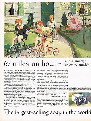 1920S Big Old Vintage P   G Procter Gamble Soap Tricycle Bike Kids Art Print Ad