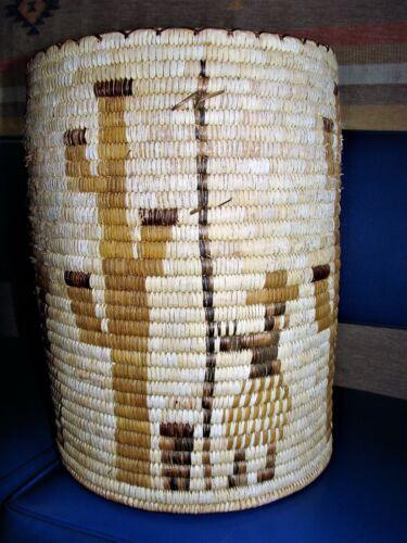 Very Large Papago Basket - Women harvesting Cactus