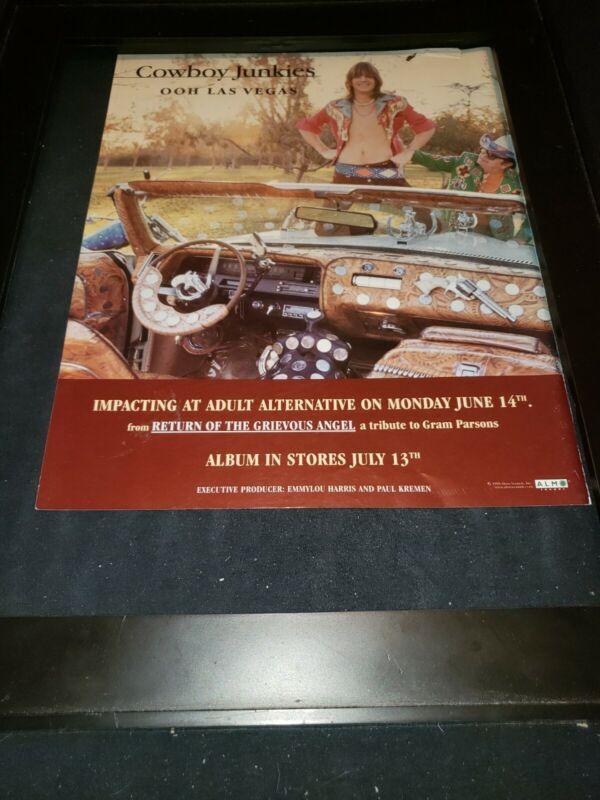 Cowboy Junkies Ooh Las Vegas Rare Original Radio Promo Poster Ad Framed!