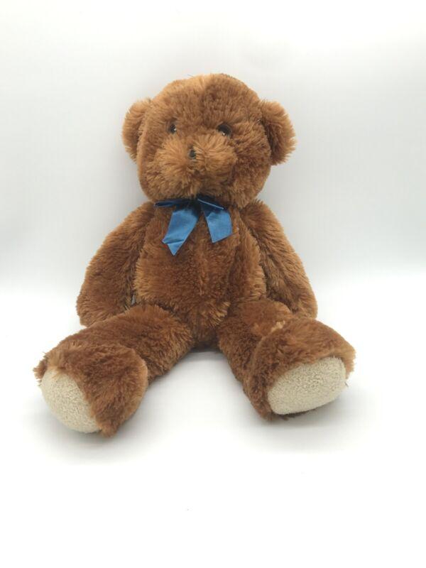 Fiesta Toy Plush Bear Brown Blue Bow National Assistance League Stuffed Animal