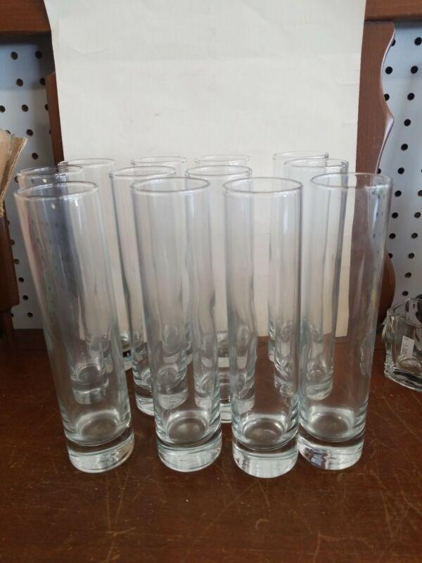 Libbey Cylinder Bud Vases, 7.5-inch, Set of 12