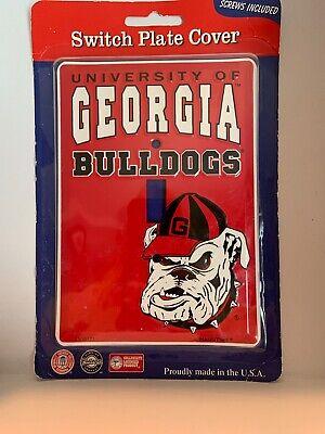 The University of Georgia Bulldogs NCAA football light switch plate cover UGA Georgia Bulldogs Red Light