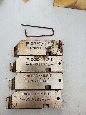Ridgid Universal Bolt 14 -38 Npt-rh High Speed Steel Pipe Dies 47760