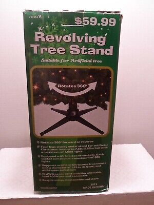 Revolving Christmas Tree Stand , trees up to 7'.5' tall rotates 360 degrees