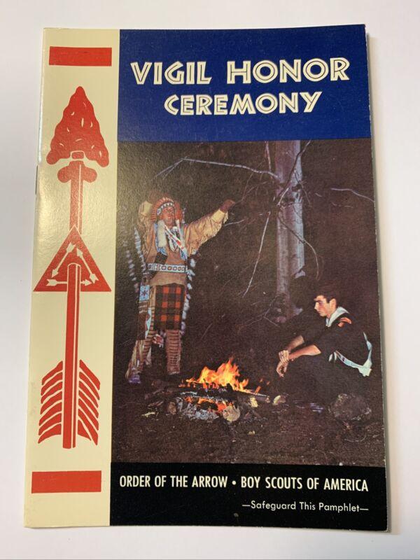 Boy Scout Order of the Arrow Ceremony Pamphlet VIGIL 10, 1970 (c3-72)