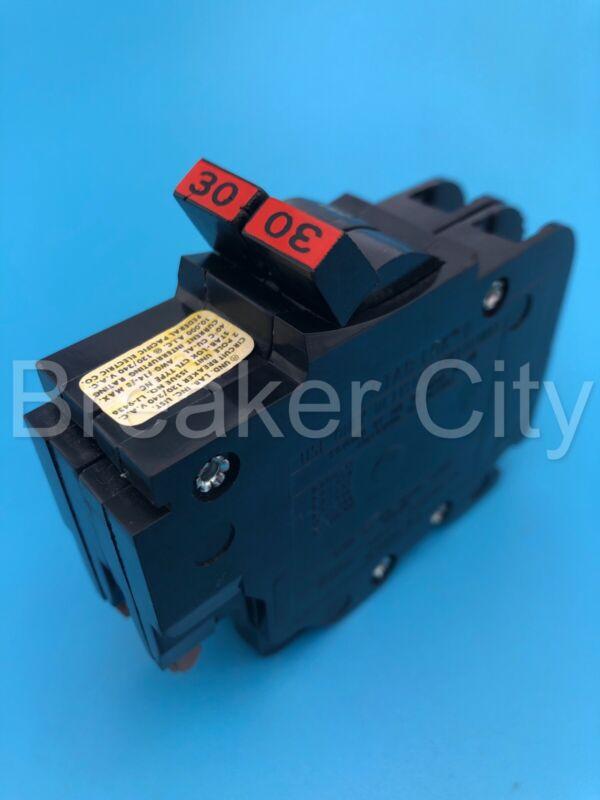 "Federal Pacific 30 Amp 2 Pole Type NC230 ""Thin"" Stab-Lok FPE Circuit Breaker"