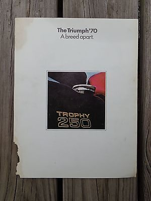 1970 The Triumph Trophy 250 Motorcycle Ad Advertisement Flyer Brochure
