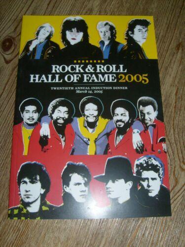 Rock & Roll Hall of Fame Program 2005   U2  The Pretenders  O