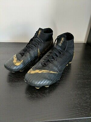 Nike Mercurial Superfly 360 Elite FG Flyknit Football Boots - UK 7 - Black Gold