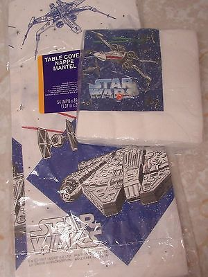 Star Wars Party Supplies Tablecloth and Napkins 1997 Lucasfilm Party Express