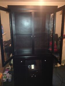 Espresso dark  2 piece china cabinet great condition