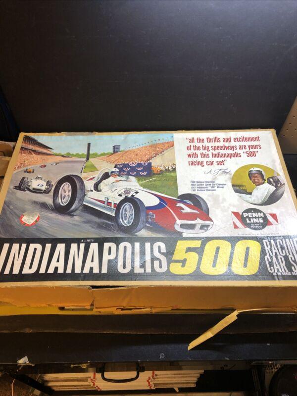Vintage A.J. FOYT INDY 500 Toy Slot Car Race Set #304 by Penn Line Super Rare!