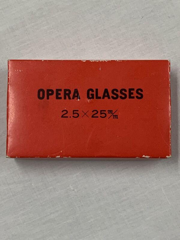 Vintage Sport Glasses Made In Japan 2.5 X 25 Mm Opera Glasses