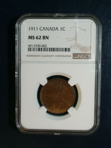 1911 Canada LARGE CENT NGC MS62 BN UNCIRCULATED 1C Coin PRICED TO SELL!