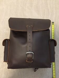 Large Saddleback Leather Backpack