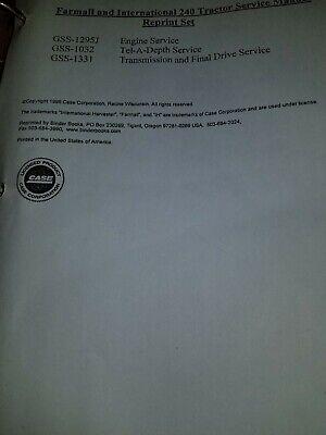 International Farmall 230 240 Tractor C123 Engine Overhaul Service Manual