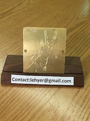 Large Antelope Solid Brass Engraving Plate For New Hermes Font Tray Look
