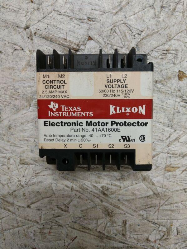 Texas Instruments Klixon Electronic Motor Protector 41AA1600E