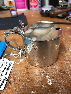 Georgian Style Silver Mustard Pot