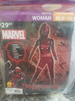 Deadpool Costume For Women (New Deadpool Deluxe Womens Costume Women's Halloween Costume, FREE shipping)