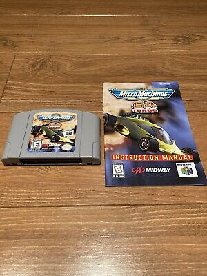 Micro Machines Turbo 64 Nintendo N64 Video Game Cartridge - Tested, Instructions