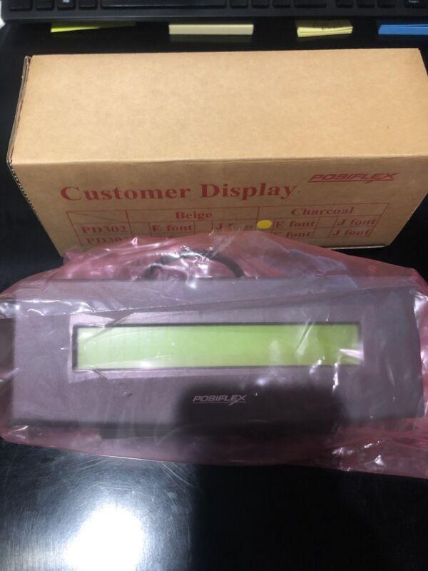 New PD-302 PD-302-C PD302C Posiflex Jiva Customer Display 2x20 characters LCD