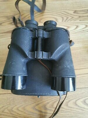 Vintage Pair of Bausch & Lomb US Navy type Full Size 7 X 50 Binoculars with case