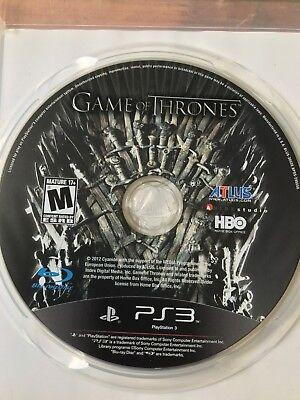 GAME OF THRONES PS3 PLAYSTATION 3 VGC ORIGINAL NTSC DISC & CASE ONLY segunda mano  Embacar hacia Argentina
