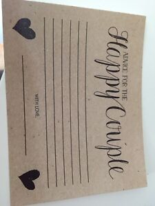 Advice for the happy couple wedding cards