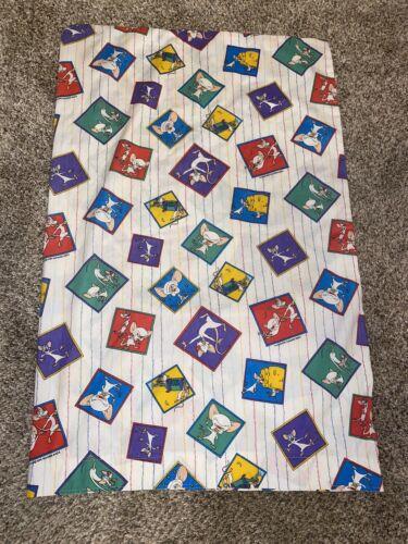 Vtg 1995 Cartoon Pillow Case Warner Bros Ren Stimpy Pinky Brain Fabric 33 X 21