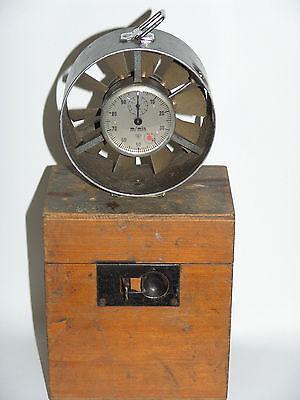 Antiker Windmesser  Flügelrad  Vane Anemometer Wind speed gauge W.Lambrecht Gö.?