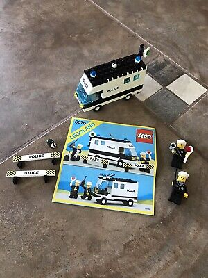 LEGO 6676 Police Mobile Command Unit *VINTAGE 1986* Classic Town *100% Complete*