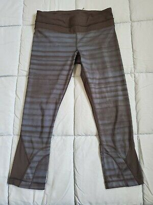 Lululemon Womens Athletica Multi Color Inspire Crop Leggings Pants Size 6