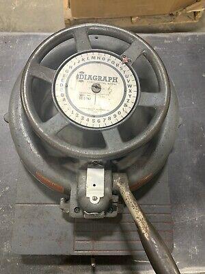 Bradley Diagraph Stencil Cutting Machine Cutter Letter Press 12