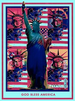 6 LIBERTYS COLLAGE#1 APROX SIZE 18X24-CT#19 PETER MAX POSTER