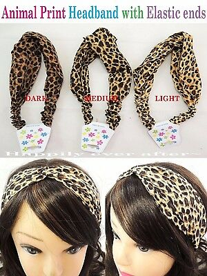 Leopard Print Headband with Soft Elastic - Animal Print Headband *US SELLER*