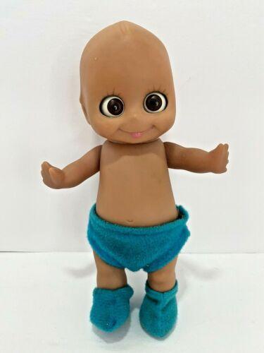 Vintage Kewpie Vinyl Anatomically Boy Baby Doll Moving Googly Eyes Wings on Back