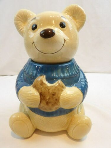 Metlox California Teddy Bear Cookie Jar Vintage Collectible USA