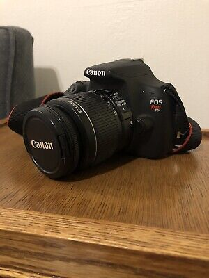 Canon EOS Rebel T5 18.0MP DSLR Camera - Black w/ EF-S 18-55mm Lens