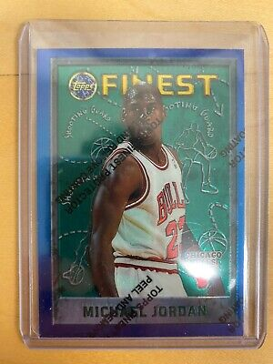 Michael Jordan 1995-96 Topps Finest #229 with protective film
