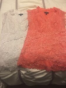 Two beautiful lace tops