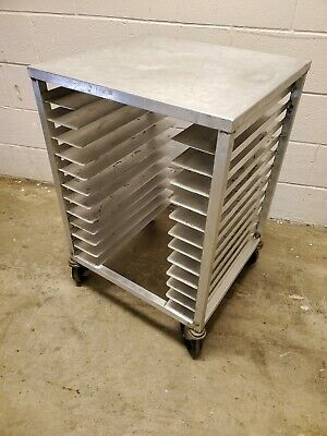 Pz12 Stainless Steel 22 Mobile 12 Pizza Pan Rack Holder With Table Top