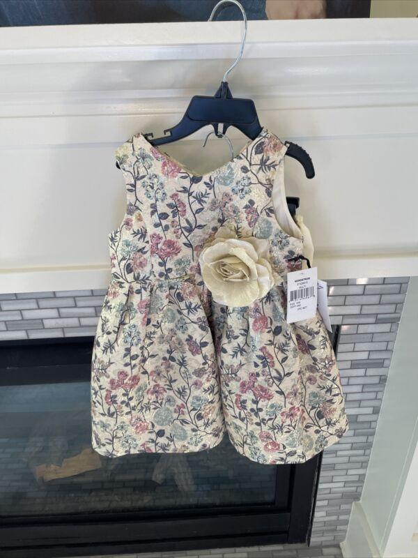 Pippa and Julie 27429613 Flower 2 PC Set Dress (Little Girls) Size 18M New