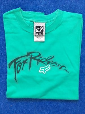 Fox Riders boys/girls T-shirt size small green 100% cotton - Fox Girls T-shirt